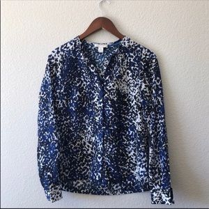 Kenar • Blue animal print patterned button down